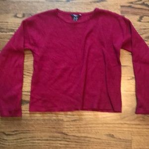FOREVER 21 red ribbed girls sweater
